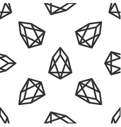 cryptocurrency coin eos icon seamless pattern vector image