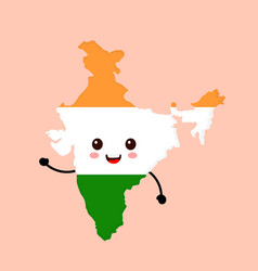 cute funny smiling happy india vector image