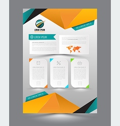 design page template origami modern style vector image