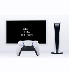 digital edition console 3d gaming concept vector image