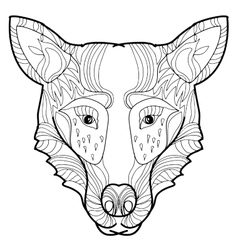 Doodle hand-drawn wolf vector