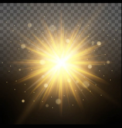 effect flying particles gold luster dust luxury vector image