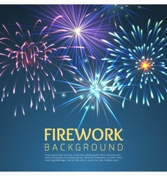 Festive firework abstract background vector image