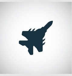 fighter plane icon simple flat element concept vector image