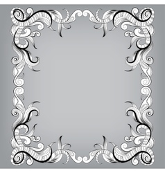 Filigree frame with sketch doodles ornaments vector