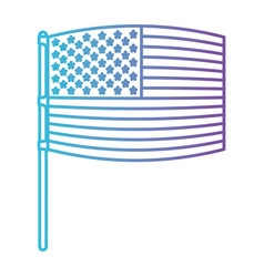 flag united states of america in pole waving out vector image