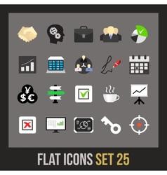 Flat icons set 25 vector image