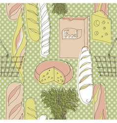 Food vintage wallpaper vector