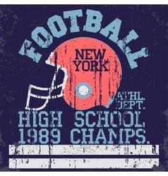 football vintage t-shirt graphics vector image