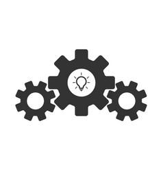 gear wheel icon idea industrial process idea icon vector image
