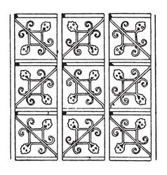 german renaissance pattern is a net design vector image