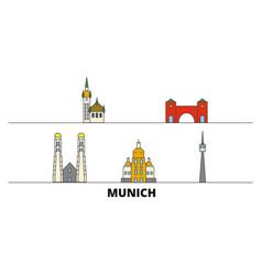 Germany munich flat landmarks vector