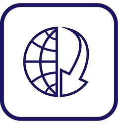 Globe and array icon vector