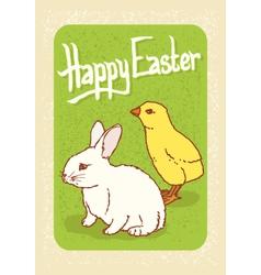 Happy Easter Postcard vector