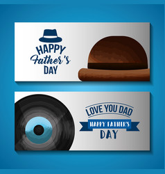 Happy fathers day card image vector