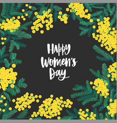 Happy women s day festive wish surrounded by vector