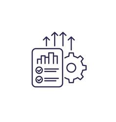 Increase productivity line icon vector