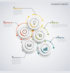 info graphic with abstract design circles template vector image