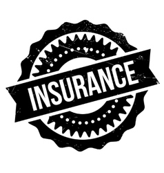 Insurance stamp rubber grunge vector
