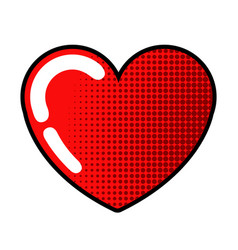 isolated heart icon vector image