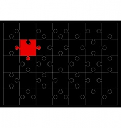 jigsaw outline vector image