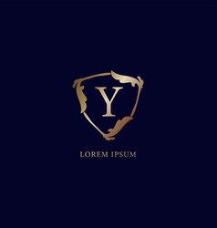 Letter y alphabetic logo design template vector