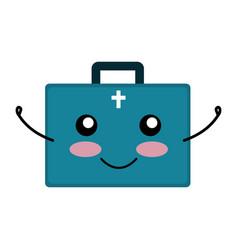 Medical kit kawaii character vector