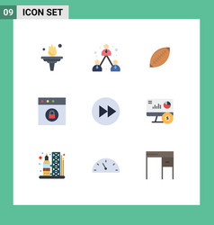 Pictograph set 9 simple flat colors mac app vector