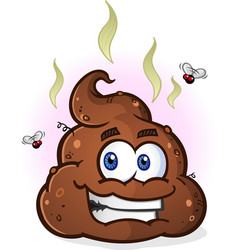 poop emoji cartoon character vector image