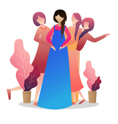 pregnant woman with her friends and presents vector image