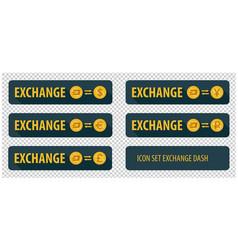 Rectangular horizontal buttons exchange vector