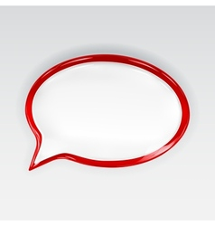Red glossy speech bubble vector image