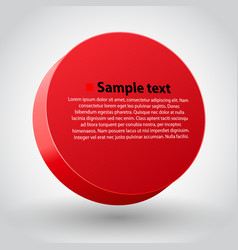 red three dimensions circle vector image