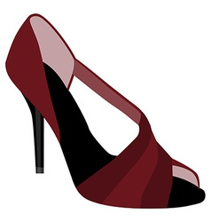 Red woman shoes vector image