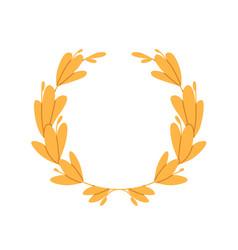 roman laurel wreath from laurus leaf circle award vector image