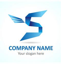 s fly logo vector image