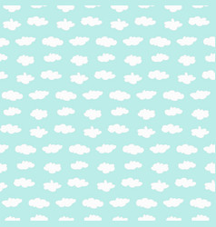 seamless clouds pattern vector image