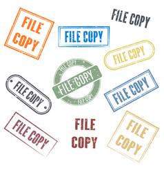 Set stamps file copy vector