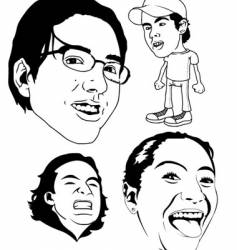 Some faces vector