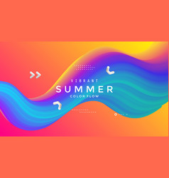 summer bright party poster abstract gradient wave vector image