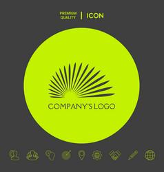 The logo sun suns rays - a symbol of vector