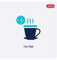 Two color tea time icon from food concept vector