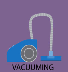 Vacuuming icon sign cleaning device vector image
