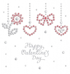 valentine jewel background vector image