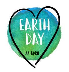watercolor earth 22 april earth day vector image