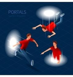 Way Out Portals Set vector