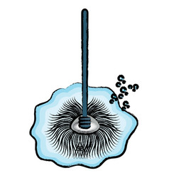Wet mop icon image vector