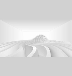 White wave background abstract minimal exterior vector