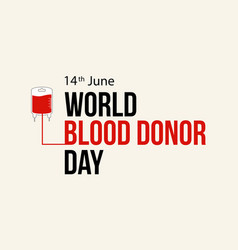 World blood donor day design background vector