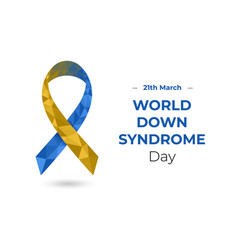 World down syndrom day 21th march concept vector